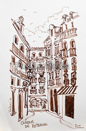 a street scene of valencia spain