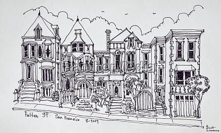 victorian houses on fulton street san