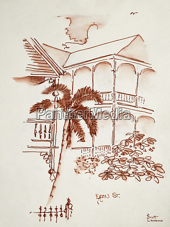 a key west victorian conch house