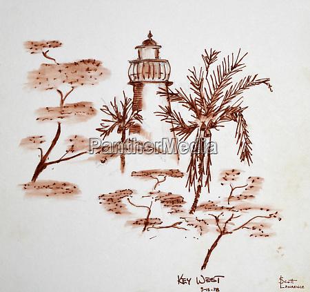 lighthouse on key west florida usa