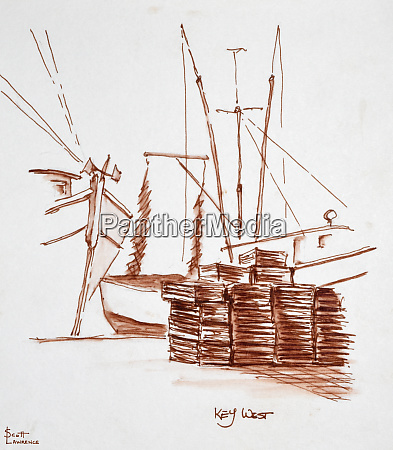 lobster and shrimp boats and traps
