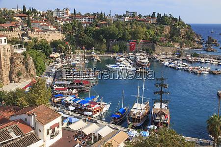 turkey antalya mediterranean coast bordered by