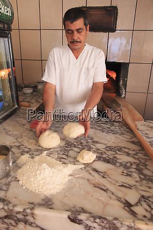 turkey izmir province selcuk baking pide