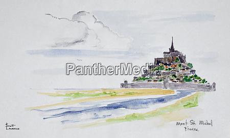 mont, saint-michel, , normandy, , france - 27678037