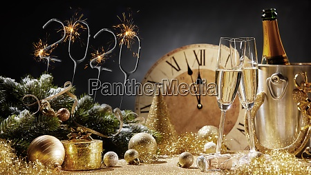 new years 2020 festive concept on