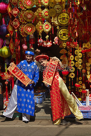 couple in traditional dress at decoration