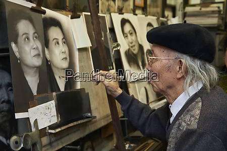 portrait painter nguyen bao nguyen old