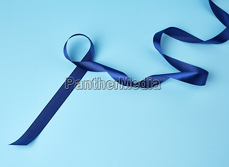 blue silk thin ribbon twisted on