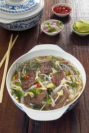vietnamese pho beef broth vietnam asia