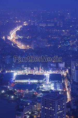 vietnam hanoi elevated city view from