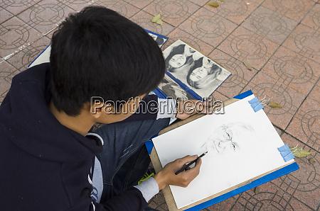vietnam hanoi hoan kiem lake sketch