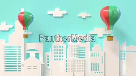 3d rendering 3d illustrator balloon send