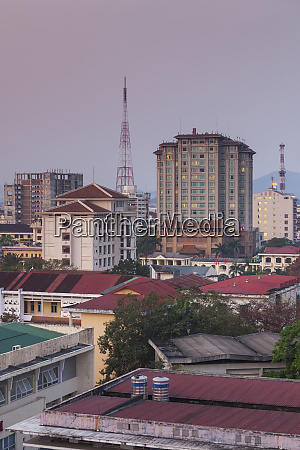 vietnam hue elevated city view morning