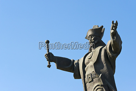 statue of kenesary khan at the