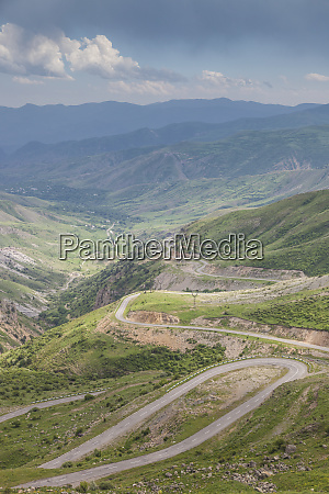 armenia mountain highway by the selim