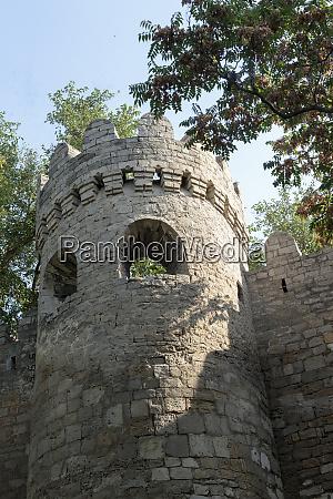 azerbaijan baku a tower on the