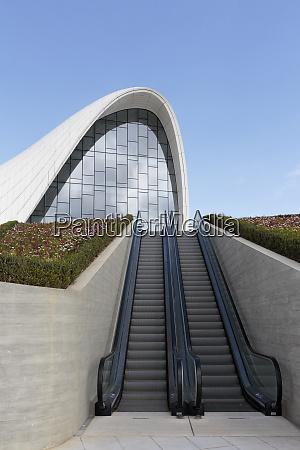 azerbaijan baku an escalator to the