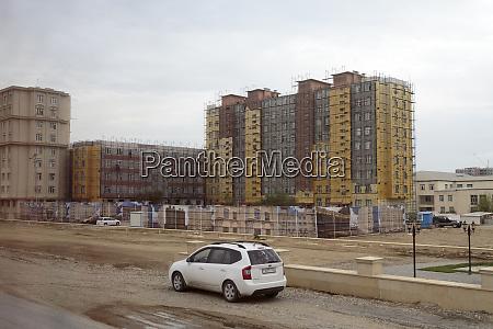 azerbaijan baku apartment complexes under construction