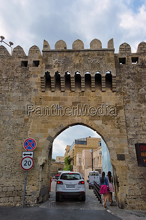ancient gate to the old city