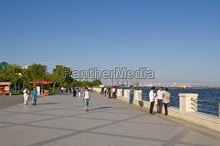 seafront of baku azerbaijan