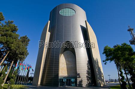modern building baku azerbaijan