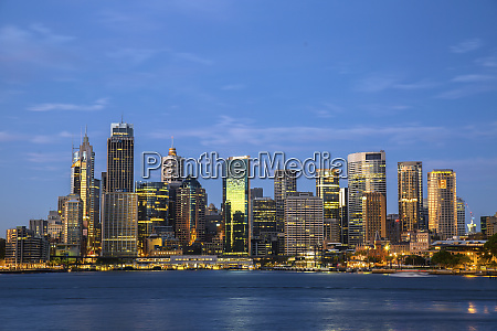 australia sydney view of downtown at