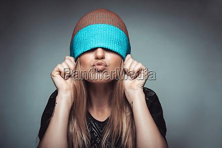 teen girl having fun
