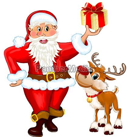 santa, claus, with, a, gift, and - 27688134