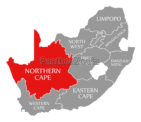 northern cape red highlighted in map