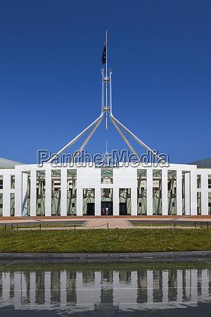 australia canberra parliament house daytime
