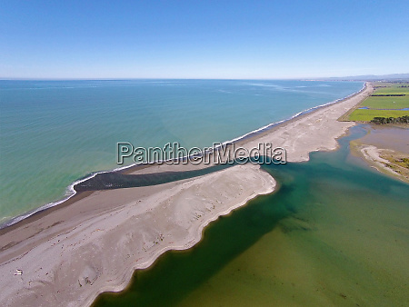 opihi river mouth near temuka south