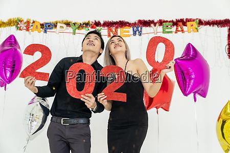 couple celebrate 2020 party