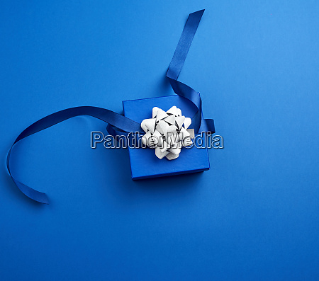 closed square blue box with a