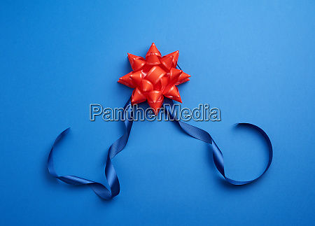 blue silk thin ribbon twisted and