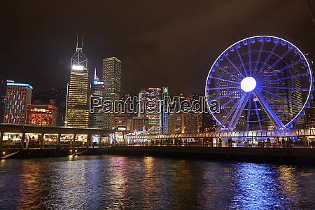 victoria harbor hong kong observation wheel