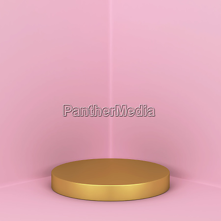 simple podium showcase stand for your