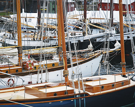usa maine camden sailboats in harbor