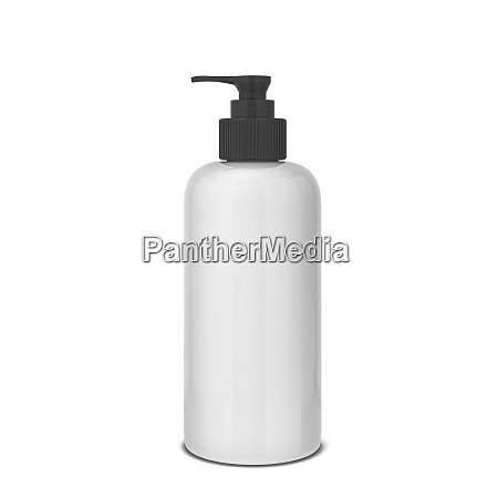 blank bottle for liquid cosmetics