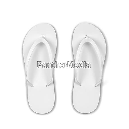 pair of blank flip flops