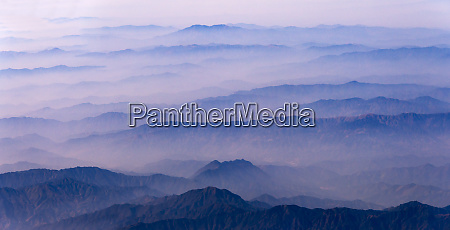 aerial view of mountains china