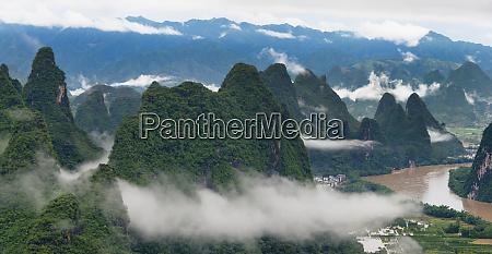 li river and limestone hills in