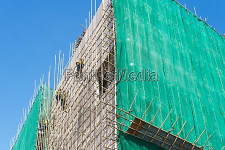 scaffolding wrapping a building hong kong