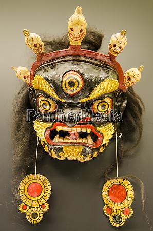 tibetan garuda mask exhibit at the