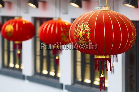 chinese lanterns at the big buddha