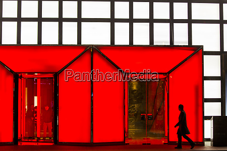 china beijing silhouette of shopper walking
