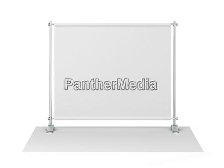 blank backdrop banner mockup