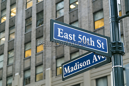street signs new york city new