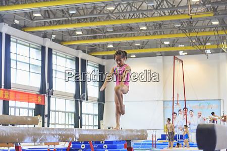 young girls training in gymnastics guangzhou