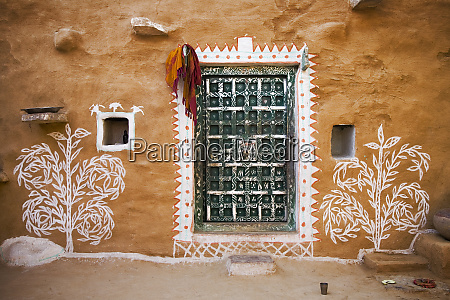 india rajasthan traditional desert house exterior