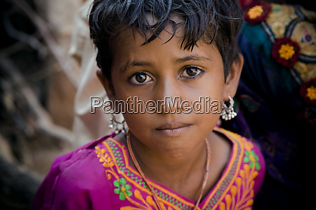 india rajasthan jaisalmer portrait of young